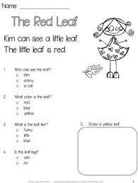 free worksheets reading passages for kindergarten free math