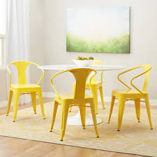 Yellow Bistro Chairs Yellow Frame Vintage Sheet Metal Cafe And Bistro Armless