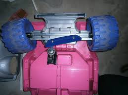 so i bought my son a used pink and purple barbie powerwheels for