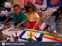 painet hl0827 children kids painting together child kid boys girls