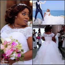discount plus size retro cap sleeve wedding dresses 2017 new a