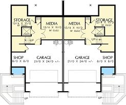 multi level home floor plans hillside multi family home plan 69111am architectural designs