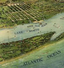 Palm Beach Map West Palm Beach Fl In 1915 Bird U0027s Eye View Map Aerial