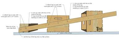 Leaning Bookshelf Woodworking Plans by Easy Crate Leaning Shelf And Storage Her Tool Belt