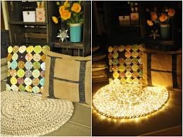 Light Yellow Rug Diy Easy Crochet Night String Light Carpet