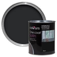 colours one coat interior u0026 exterior black satin wood u0026 metal