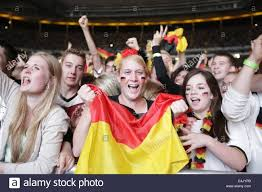 frankfurt germany 13th july 2014 german fans celebrate the