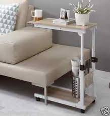 Couch Desk Table Height Adjustable Bedside Caster Table Diy Multi Use Extendable