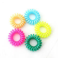 elastic hairband mixed color hair elastic band rope rubber telephone line elastic