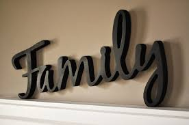 word wood 3d cutout family by mrc wood products