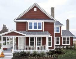 exterior paint colors red home design ideas