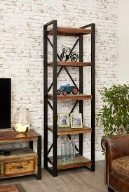 Narrow Bookcases Uk Industrial Chic Open Narrow Bookcase Hshire Furniture