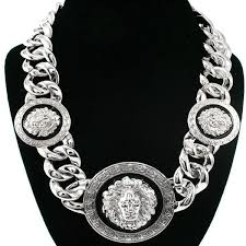hip hop style necklace images Wholesale fashion metal lion head chunky hiphop chain necklace jpg