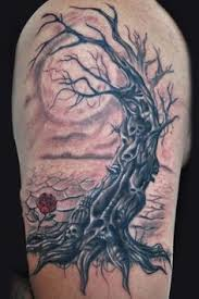 scary tattoos horror tattoos 4 dead tree
