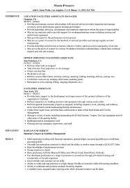 exle of a simple resume facilities associate resume sles velvet