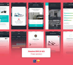 routes ios app design ui kit for sketch and psd freebiesui
