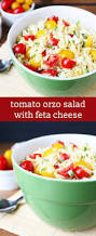 tomato orzo salad with feta cheese easy pasta salad side dish recipe