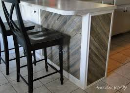 Rustic Kitchen Islands Remodelaholic Diagonal Planked Reclaimed Wood Kitchen Island