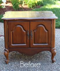 French Provincial Table French Provincial End Table Update Painted With Paint Sprayer
