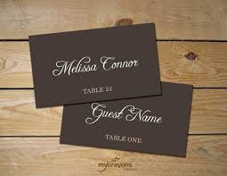 printable name place cards instant rustic script editable place card template diy