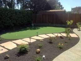 Diy Small Backyard Makeover Fake Grass Carpet Lancaster California Diy Putting Green