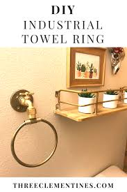 diy industrial bathroom towel ring industrial towel rings towel