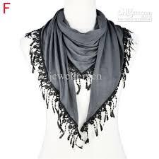 sale women autumn scarves and shawls fringe lace triangular
