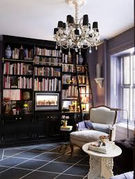 Purple Living Room by Home Library Design Ideas Pictures Of Home Library Decor