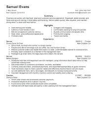 server resume template sle server resume food server resume server resume resume