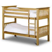 Solid Pine Bunk Beds Julian Bowen Barcelona Solid Pine Bunk Bed Furniture123