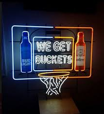 bud light neon signs for sale bud light madness we get buckets neon sign glass tube neon light for