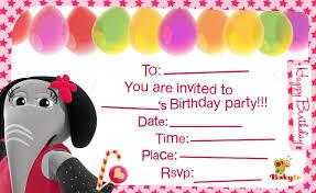 birthday invitations babytv birthday invitations