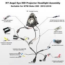 ktm duke 200 angel eye hid projector headlight 2012 2013 2014 2015