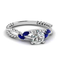 cheap diamond engagement rings round cut diamond engagement ring with black diamond in 14k white
