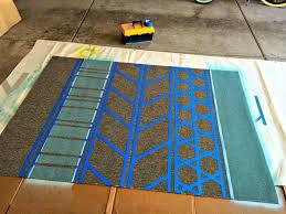Diy Rug Diy Rug Painted Area Rug For Under 40 Craft Remedy
