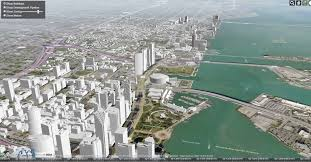 Miami City Map by Interactive 3d Map Shows Present And Future Miami Skyline