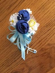 Baby Sock Corsage Baby Sock Baby Shower Corsage Handmade Infant Baby Shower Corsage