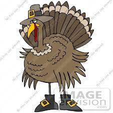 clip graphic of a thanksgiving turkey bird disguised as a