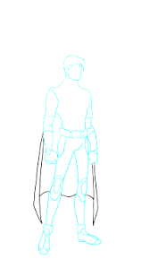 how to draw robin from the batman comics movies easy step by