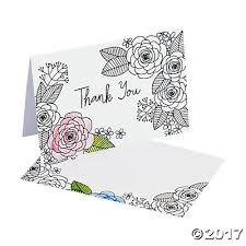 crafts coloring floral thank you cards