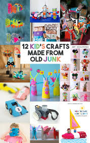 12 craft activities for kids that are made using old junk let u0027s