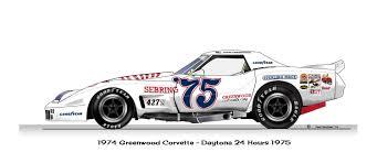 corvette racing stickers greenwood 1975 corvette team corvette 1975