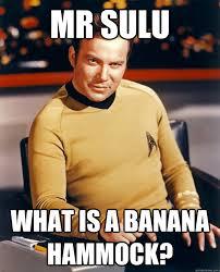 Banana Hammock Meme - mr sulu what is a banana hammock classy kirk quickmeme