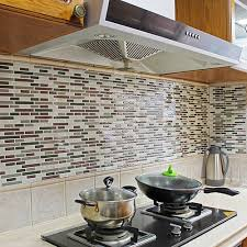 kitchen backsplash decals 4pcs home decor 3d tile pattern kitchen backsplash stickers mural