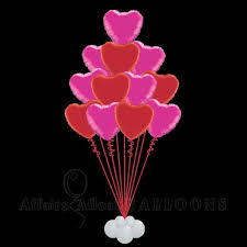 heart balloon bouquet whole lotta heart balloon bouquet affairs afloat balloons