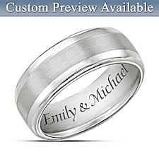 personalized wedding band mens ring our forever personalized ring