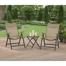 Small Patio Furniture Set by Better Homes And Gardens Quail Ridge 3 Piece Folding Bistro Set