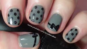 easy bow tie and polka dot design nail art gallery