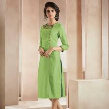 light green dress with sleeves online model light green embroidered straight kurti woven 24761 buy
