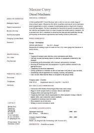 mechanic resume sample career objective also key skills plus auto